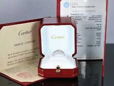 $8,000 Cartier 18K White Gold 0.64ct Round Diamond GIA Solitaire Engagement Ring