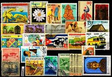 World wide 25 Different Stamp From 25 Different Countries & States Large Only