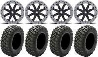 "MSA Lok2 Beadlock 14"" UTV Wheels 28"" Crawler XR Tires Textron Wildcat XX"
