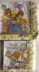 Napkins Birthday Precious Moments Lot of 2 Packages of 16 Luncheon Beverage New