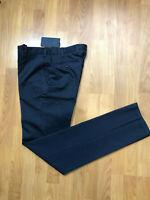 Mabitex NWT Dark Blue 100% Cotton Triplo Chino Mens Dress Pants Sz 32x36