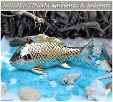 13 cm 1 Deko-Fisch aus Keramik silber ca