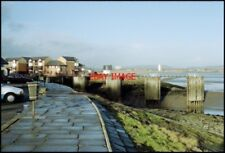 PHOTO  CARDIFF  MARINA ENTRANCE WHEN THE TIDE USED TO GO OUT.