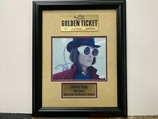 Johnny Depp Autographed Chocolate Factory 8x10 Custom Framed Willy Wonka JSA