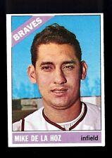 1966 Topps Mike de la Hoz #346 Atlanta Braves NM VINTAGE BASEBALL CARD BEAUTY