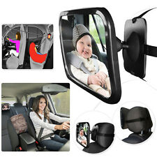 Rear Seat Car Safety Mirror Large Adjustable Wide View Headseat Mount
