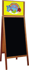 WOODEN BLACKBOARD PAVEMENT BOARD CHALK A BOARD DISPLAY MENU XL size with header