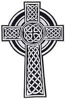 Kelten-Kreuz Biker XL Rücken-Aufnäher Groß Keltisch Knoten Aufbügler Patch Thor