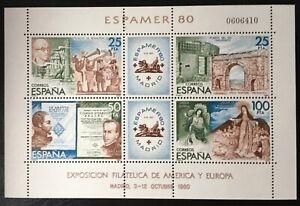 Spain 1980, Stamp Exhibition ESPAMER '80 Madrid, SG MS2625, MNH**