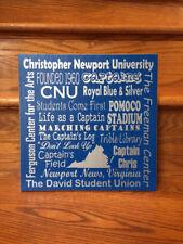 Christopher Newport University, CNU, Subway Art, Christopher Newport Captains