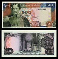 COLOMBIA 500 PESOS 1977 P 420 UNC *  * General Santander *