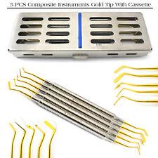 Dental Composite Gold Tip Instrument Dentiste plugger chirurgical avec 5Pcs cassette