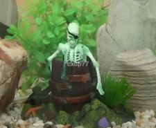 Action Air Operated Skeleton Barrel FISH Aquarium Ornament Fish Tank Decoration
