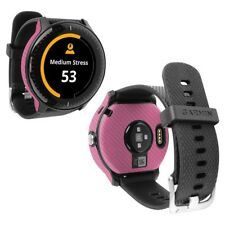 Skinomi Pink Carbon Fiber Skin+Screen Protector for Garmin Vivoactive 3 Music