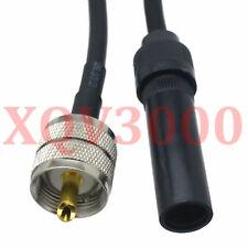 "PL259 UHF male to Motorola AM/FM radio car antenna female RG58 cable 30cm/12"""