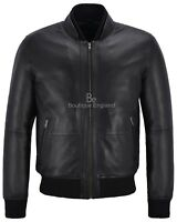Black Smith Ultra Handsome Men Perforated Real Leather Bomber Retro Style Jacket