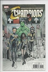 Champions #1 NM (9.6 ) 1 Per Store-Partial Sketch Variant. 2016:  Ramos.