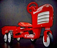A 1930s Pedal Tractor with Trailer Pedal Car Midget Metal Model