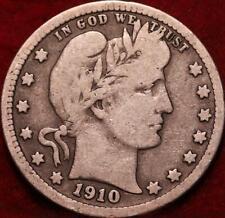 1910 Philadelphia Mint Silver Barber Quarter