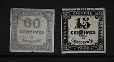 FRANCE TAXE YT 3 et 9 OBLITERES 15c noir et 20c bleu
