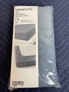 New IKEA SOMNTUTA Sheets TWIN SHEET SET, BLUE-GRAY