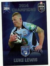 2014 ESP NRL STATE OF ORIGIN NSW BLUES SHARKS LUKE LEWIS SOO11 CARD