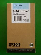 08-2015 NIB GENUINE EPSON T6025 LIGHT CYAN K3 INK PRO 7800 9800 7880 9880