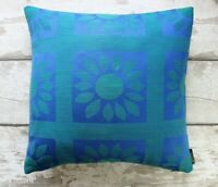 Vintage 60s Flower Power Bold Cushion Cover. Retro Pillow Case Recycled 70s Home