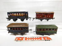 CG165-1# 4x Bing/Karl Bub Spur 0 Blech-Personenwagen/Güterwagen defekt/Bastler