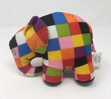 "Elmer Elefante Peluche David McKee Patchwork Niños Juguete Suave 7"" 2001 Animal Zoo"