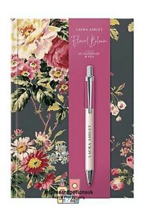 Laura Ashley Floral Bloom A5 NOTEBOOK & PEN Ladies Christmas Gift Set 2021