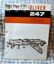 Vintage Oliver Corporation No. 247 Chisel Plow Advertising Brochure-Ca 1963!