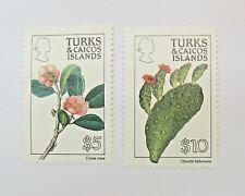 Turks and Caicos Islands 1990 Flowers 2v MNH