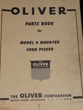 Oliver Parts Book Model 4 Mounted Corn Picker