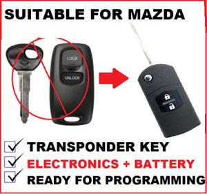 1 x Remote Car Key Flip car key suitable for Mazda 6 2002 2003 2004 2005 -41803