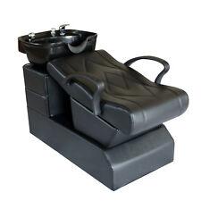 Backwash Chair Salon Station Unit Spa Bowl Barber Sink Shampoo Equipment Black