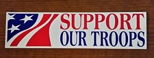 """*NEW* """"SUPPORT OUR TROOPS"""" Patriotic USA Bumper Sticker Vinyl Window Decal"""