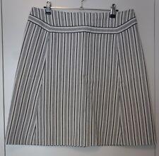 Von Troska: Vintage Cotton Pinstriped Skirt In Size L