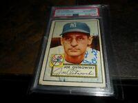 1952 Topps Autograph AUTO #206 Joe Ostrowski NEW YORK Yankees PSA/DNA  D.2003