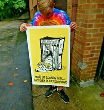 Vintage NOS Original 1970s Psychedelic Rock Man Poster Vagabond sex  Pin-up Pop