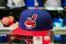 Cleveland Indians New Era ORIGINAL FIT Blend Beat Snapback Cap Hat Wool Leather