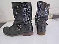 bottes cuir noir sequins BULLBOXER 37