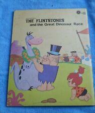 """Flintstones 1973 Giant Durabook -The Great Dinosaur Race  8 1/2"""" x 11"""""""