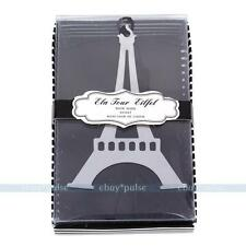 Stainless Steel Silver Eiffel Tower BOOKMARK Tassels Page Marker Ribbon Box Gift