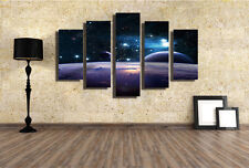 Abstract Wall Decor Art Oil Painting on Canvas 5 Parts NO frame Space Star 17