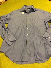 Pal Zileri Mens Long Sleeve Button Down Dress Shirt Blue Italy - Size 38/15