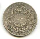 GUATEMALA REPÚBLICA PESO PLATA (1894) CONTRAMARCAR KM 224