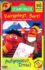 "VHS - neu & ovp "" SESAMSTRASSE - Reingelegt Bert ! + Aufgepasst Ernie ! """