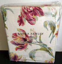 "Laura Ashley Curtains Gosford Cranberry Red 88"" X 90"" Long 223cm x 229cm"