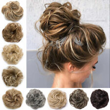 Real Thick Curly Messy Bun Hair Piece Scrunchie 100% Natural Hair Extensions USA